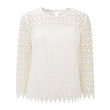 Buy Hobbs Marlena Top, Ivory Online at johnlewis.com