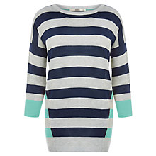 Buy Oasis Double Stripe Jumper, Neutral/Multi Online at johnlewis.com