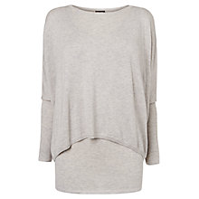 Buy Phase Eight Charley Crop Double Layer Jumper, Silver Marl Online at johnlewis.com