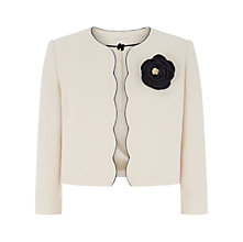 Buy Jacques Vert Scallop Edge Jacket, Cream Online at johnlewis.com