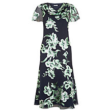 Buy Jacques Vert Devore Fit And Flare Dress, Multi Navy Online at johnlewis.com