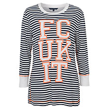Buy French Connection FCUK It Striped Top, Nasturium Multi Online at johnlewis.com