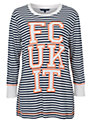 French Connection FCUK It Striped Top, Nasturium Multi