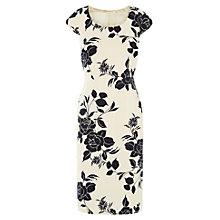 Buy Jacques Vert Floral Print Shift Dress, Cream Online at johnlewis.com