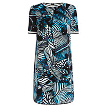 Buy Warehouse Pattern Palm Sporty Dress, Blue Pattern Online at johnlewis.com