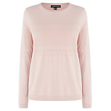 Buy Warehouse Pattern Yoke Jumper, Neutral Online at johnlewis.com