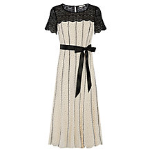 Buy Jacques Vert Piped Soft Prom Dress, Cream/Black Online at johnlewis.com