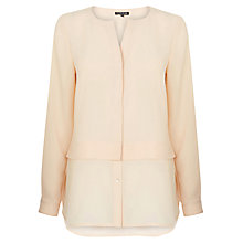Buy Warehouse Double Layer Shirt, Cream Online at johnlewis.com