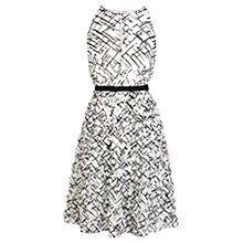Buy Coast Anya 3D Dress, Black/White Online at johnlewis.com