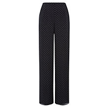 Buy Jacques Vert Spotty Trousers, Black Online at johnlewis.com