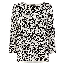 Buy Warehouse Compact Animal Jumper, Black / White Online at johnlewis.com