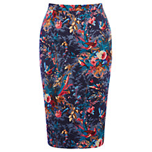 Buy Oasis Tess Pencil Skirt,  Purple Online at johnlewis.com