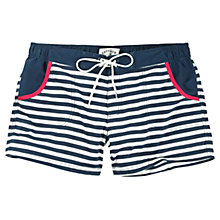 Buy Fat Face Stripe Trim Board Shorts, Navy/White Online at johnlewis.com