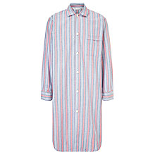 Buy Derek Rose Davos Stripe Nightshirt, Blue/Red Online at johnlewis.com