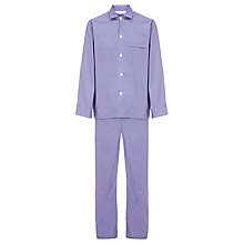 Buy Derek Rose Fine Stripe Woven Cotton Pyjamas, Blue/Red Online at johnlewis.com