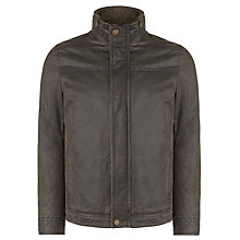 Buy John Lewis Faux Shortie Waxed Jacket, Brown Online at johnlewis.com