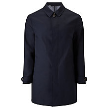 Buy John Lewis Bonded Cotton Mac, Navy Online at johnlewis.com
