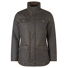Buy John Lewis Faux 4-Pocket Waxed Jacket, Brown Online at johnlewis.com