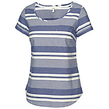 Buy Fat Face Bramley Stripe Shell T-Shirt, Dark Chambray Online at johnlewis.com