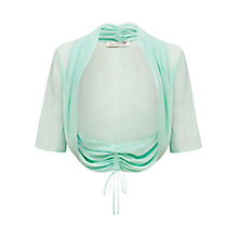 Buy Damsel in a dress Amelle Silk Shrug, Aqua Online at johnlewis.com