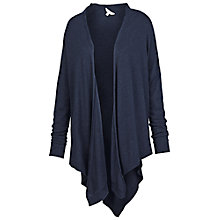 Buy Fat Face V Back Waterfall Cardigan, Navy Online at johnlewis.com