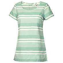 Buy Fat Face Bramley Stripe Shell T-Shirt, Frost Green Online at johnlewis.com