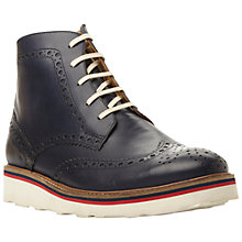 Buy Bertie Cloud Brogue Lace Up Boots, Navy Online at johnlewis.com