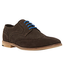 Buy Bertie Aston Suede Brogue Shoes, Brown Online at johnlewis.com