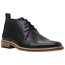 Buy Dune Montenegro Leather Lace-Up Boots, Black Online at johnlewis.com