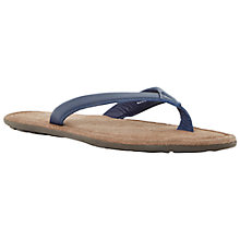 Buy Dune Ike Toe Post Leather Sandals, Blue Online at johnlewis.com
