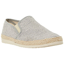 Buy Bertie Fable Pindot Espadrilles, Grey Online at johnlewis.com