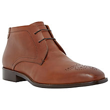 Buy Dune Mansion Leather Brogue Boots, Tan Online at johnlewis.com