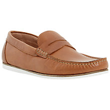 Buy Dune Brightly Leather Penny Loafers, Tan Online at johnlewis.com