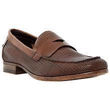 Buy Bertie Retro Leather Loafers, Brown Online at johnlewis.com