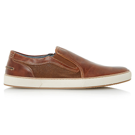 Buy Dune Tazer Leather Slip-On Shoes Online at johnlewis.com