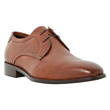 Buy Dune Ray Leather Derby Shoes, Tan Online at johnlewis.com