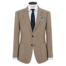 Buy JOHN LEWIS & Co. Burlington Basketweave Suit Jacket, Tan Online at johnlewis.com