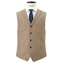 Buy JOHN LEWIS & Co. Burlington Basketweave Waistcoat, Tan Online at johnlewis.com