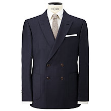 Buy JOHN LEWIS & Co. Mathern Contrast Twill Double Breasted Suit Jacket, Denim Online at johnlewis.com
