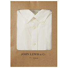 Buy JOHN LEWIS & Co. Twill Cotton Button Down Shirt, Ecru Online at johnlewis.com