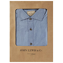 Buy JOHN LEWIS & Co. Chambray Shirt, Light Blue Online at johnlewis.com