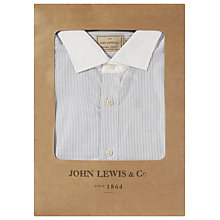 Buy JOHN LEWIS & Co. Fine Stripe Contrast Collar Shirt, Blue/White Online at johnlewis.com