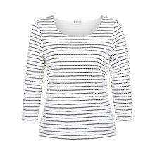 Buy Planet Striped Textured Top, Black Online at johnlewis.com