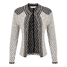 Buy Miss Selfridge Embellished Bouclé Jacket, Multi Online at johnlewis.com