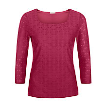 Buy Planet Textured Top, Cerise Online at johnlewis.com