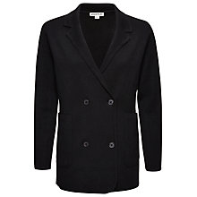 Buy Whistles Double Breasted Jacket, Black Online at johnlewis.com