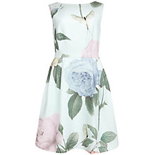 Buy Ted Baker Rose Print Tulip Dress, Mint Online at johnlewis.com