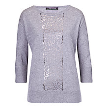Buy Betty Barclay Scoop Neck Jumper, Middle Grey Melange Online at johnlewis.com