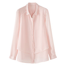 Buy Poetry Silk Tiered Shirt, Pastel Pink Online at johnlewis.com