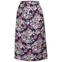 Buy Fat Face Floral Midi Skirt, Navy Online at johnlewis.com